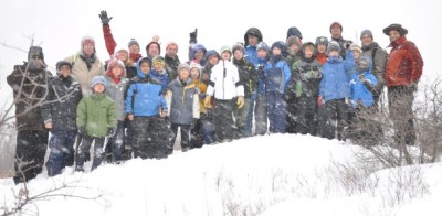 Pack 1 Cub Scouts hike, throw snowballs, hear stories during cabin campout