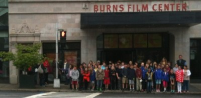 Fifth grade goes to Jacob Burns Film Center to learn to make memoir movies
