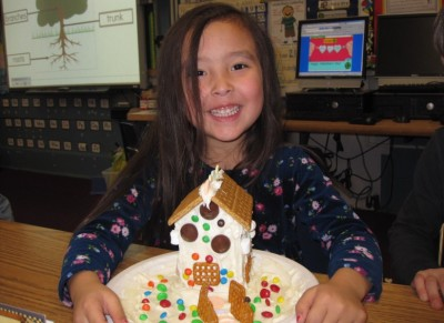 Gingerbread houses favorite project of year for Kindergartners (from June print newspaper)