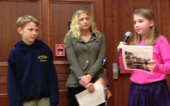 Student newspaper staffers from Pelham schools report on what they do to board of ed