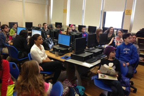 Colonial Times editors visit PMHS to learn how high school's paper, the Pel Mel, is published