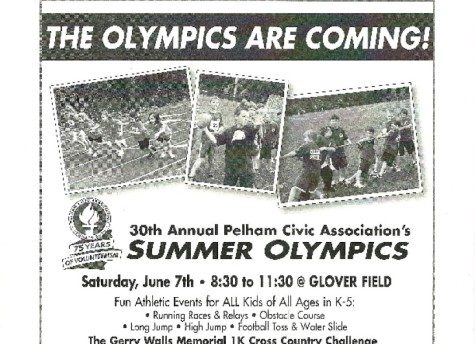 Pelham Olympics coming Saturday with events for K through fifth graders