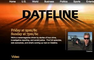 Dateline producer talks about scares and fun of TV news