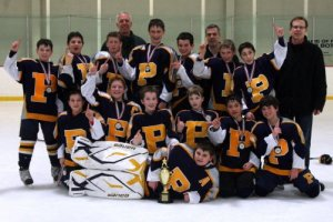 Pelham PeeWee Penguins at the March Classic in Marlboro MA.