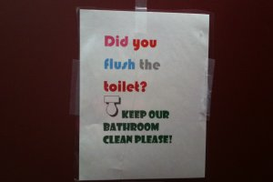 Student Government campaigns for better behavior in restrooms