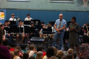 PMS jazz band plays great concert for Colonial students