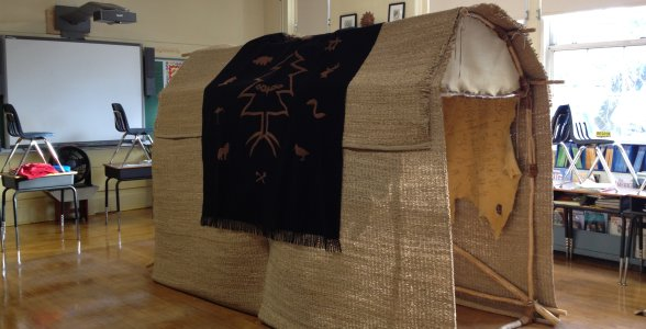 Fourth grade journeys to American Indian territory without ever leaving school