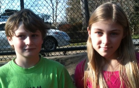 Fifth Graders Maggie Solimine and Patrick Wertimer play hockey this year