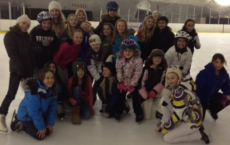 Girl Scout Troop 1666 goes to Ice Hutch to earn Ice Skating Patch