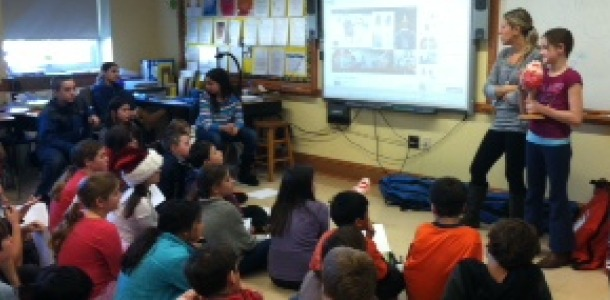 Colonial fifth graders learn about CPR from Mrs. Holly McNamara