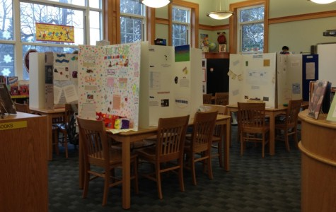 Fifth grade inventors convene their innovation convention in library