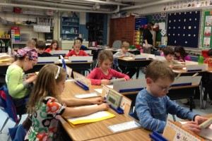 Third, fourth and fifth graders participate in Perennial Math at Colonial