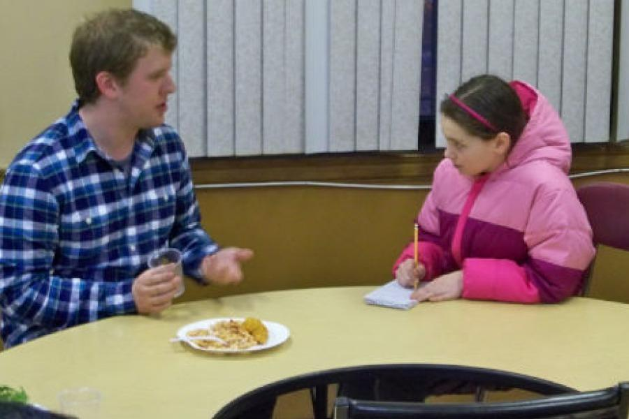 Sam Martinelli, the co-captain of the BU team, talked about alternative spring break with a Colonial Times reporter.