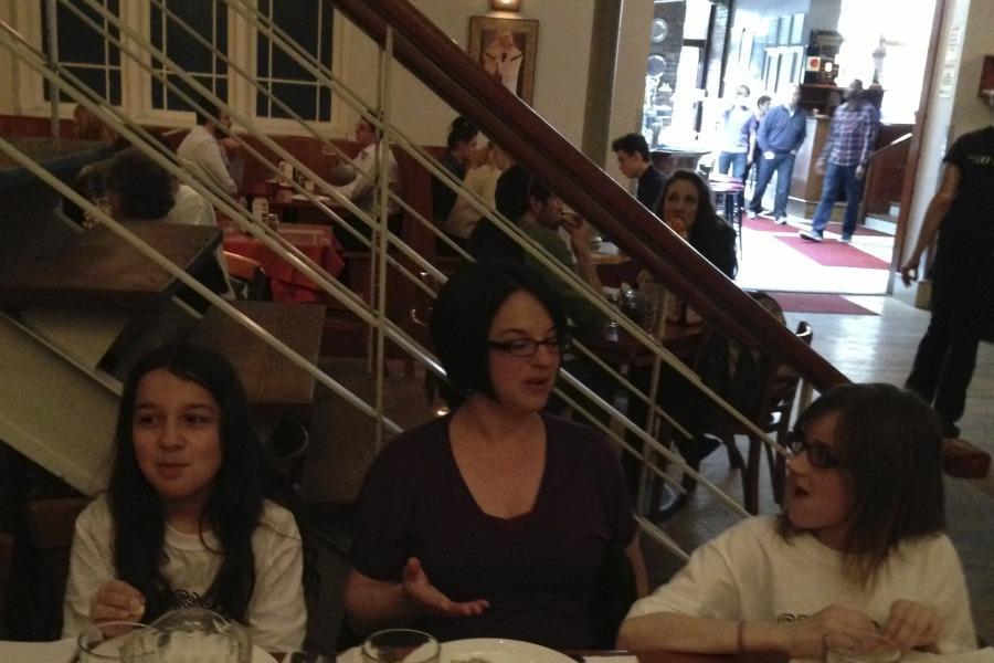 Jennifer Merritt (center) was interview by Annika Jawanda and Carly McNamara.