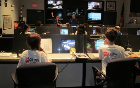 Fifth grade students operated a simulated Mission Control Center.
