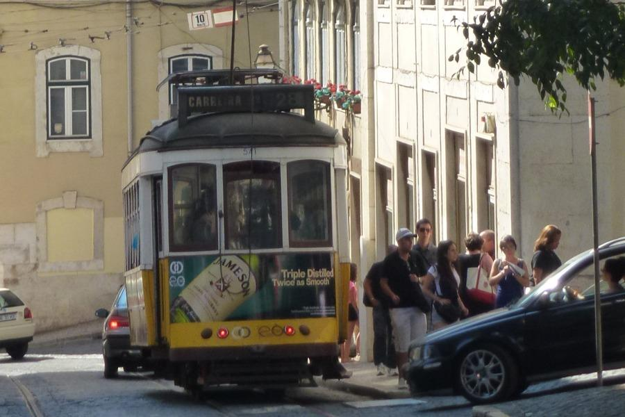 One of Lisbon's many little buses.