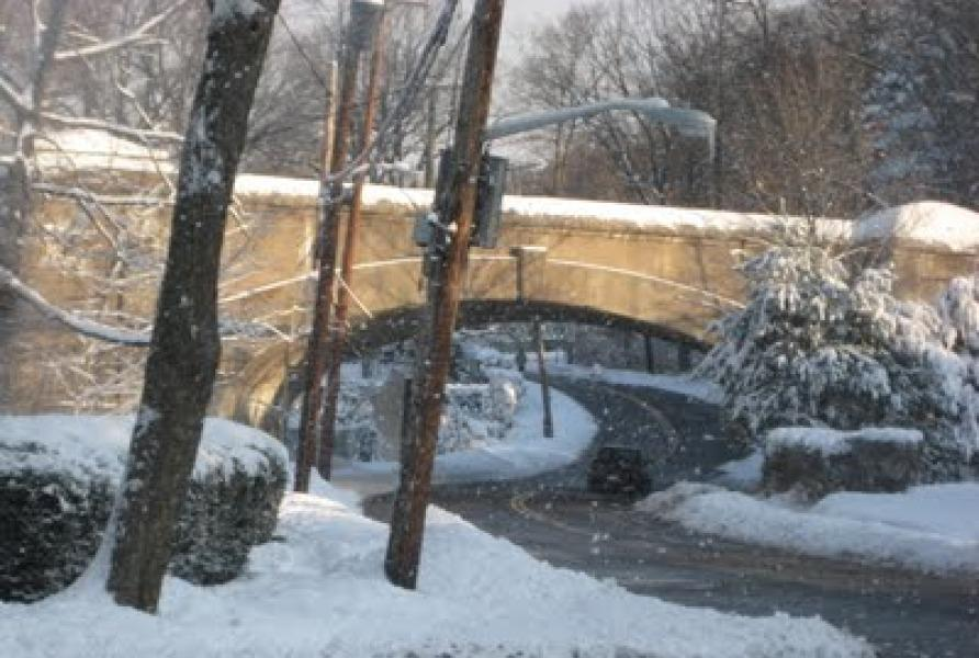 The old train bridge that crosses Highbrook Avenue is part of the Greenway.