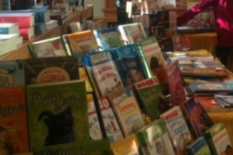 Kids of Colonial enjoy shopping for wonderful books at annual fair