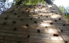 Fifth graders enjoy zipline during Ring Homestead field trip