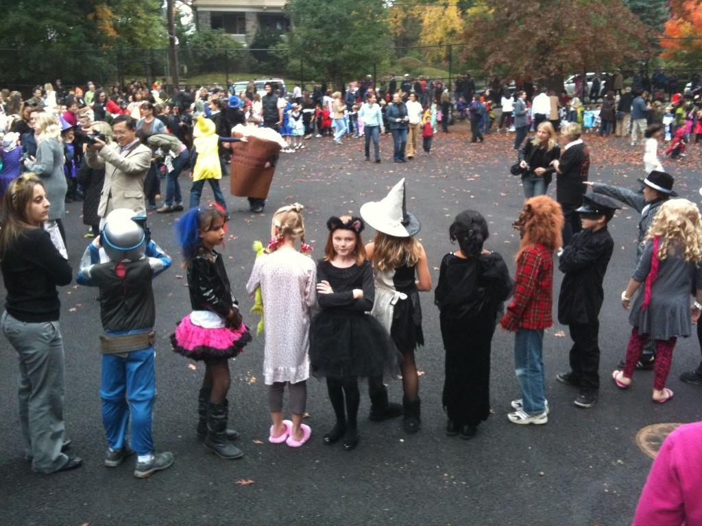 Kids marched in the Colonial Halloween parade three years ago.