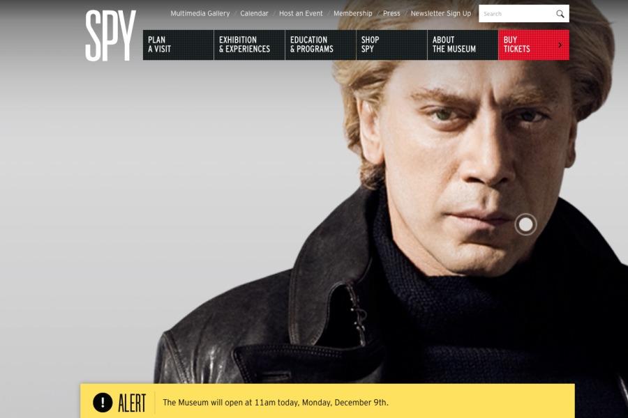 The International Spy Museum's very cool website.