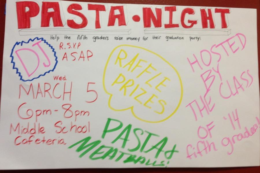 This year's Pasta Night to take place on March 5 with food, raffles and prizes