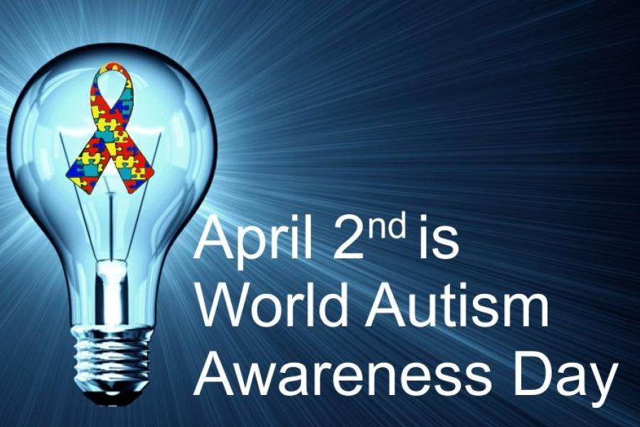 Wearing blue on April 2 to call attention to Autism Awareness Day