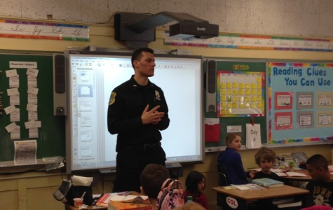 Pelham Police Sergeant Brian Hendrie teaches during 2014.