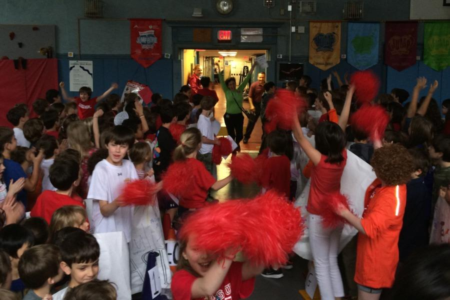 Pom-poms%2C+cheers+and+jumping+greeted+teachers+in+the+gym+on+appreciation+day.
