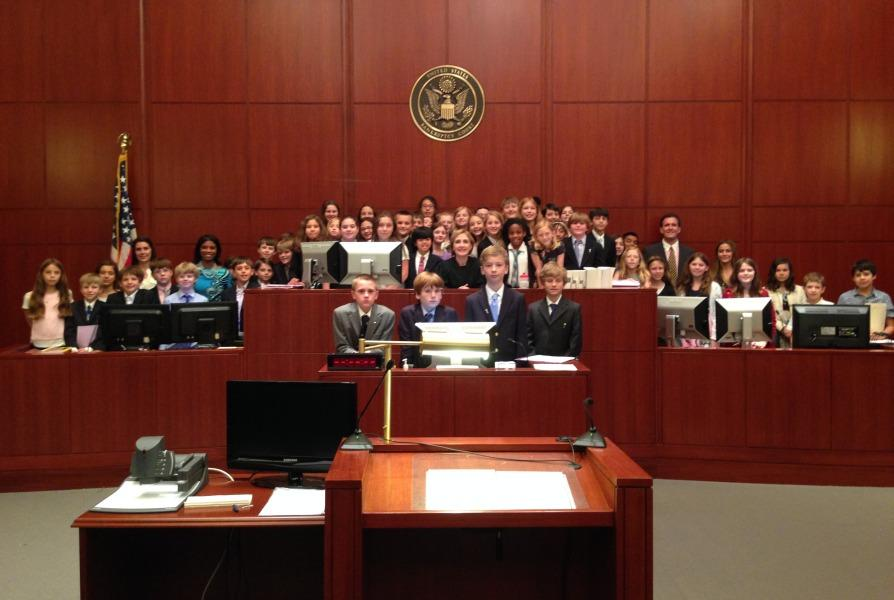 Constitution Works: Fifth grade tries cases in federal courtroom (year-end print edition)