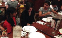 Tisya Sharma (on left) interviewed Ms. Allee Manning of TIME for Kids along with Ella Miller.