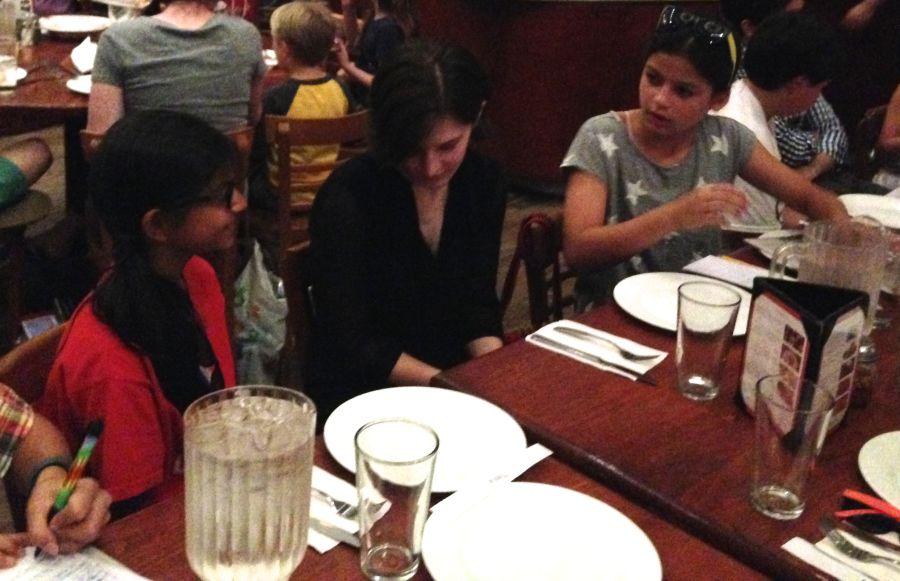 Tisya Sharma (on left) interviewed Ms. Allee Manning of TIME for Kids along with Ella Miller.