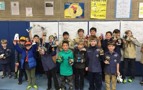 Pelham Cub Scout Pack 1's Rain Gutter Regatta is down to last breath