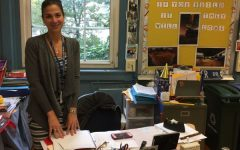 Fifth grader teacher Mrs. Salerno in her classroom.
