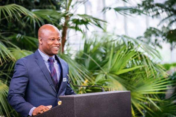 Chess Grandmaster Maurice Ashley at an earlier speaking engagement.