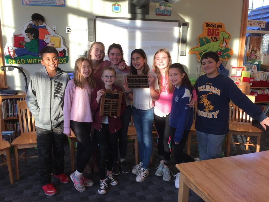 Last year's editors, now in sixth grade, visited the Colonial Times.