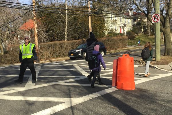 Sal Ariganello is at the intersection of Highbrook and Boulevard helping people cross every day.