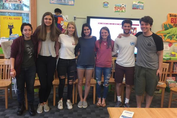 From left, Daniella Cherner, Manon Bushong, Lindsay McNamara, Francesca Di Cristofano, Claudia Dodge, Henry Driesen and Sam Rodd.
