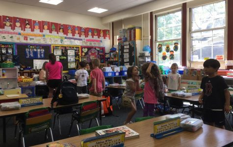 Kindergartners in Ms. Kathleen McCarthy's class at work and play.
