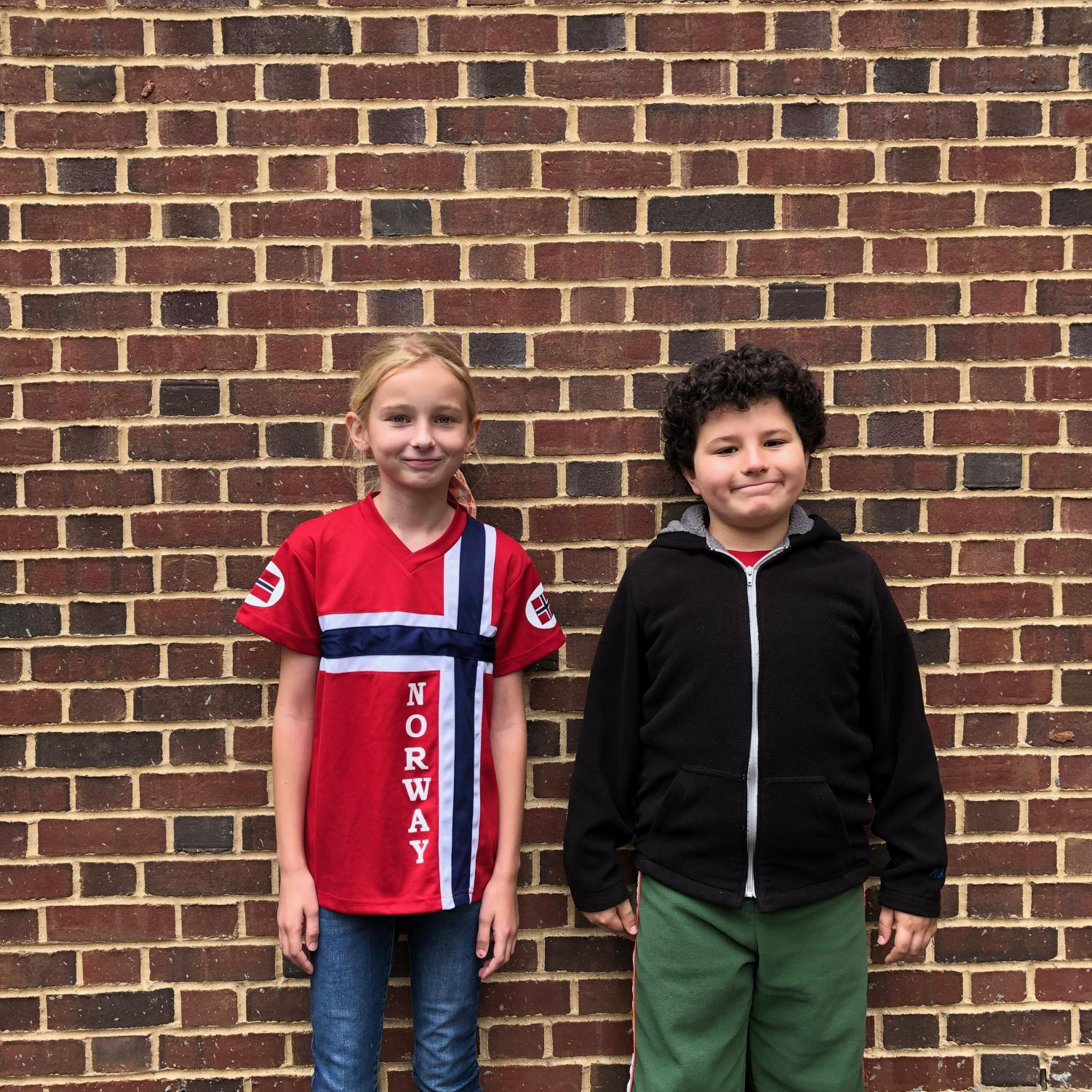 Anna Shiels and Todd Kerman were the fourth grade winners.