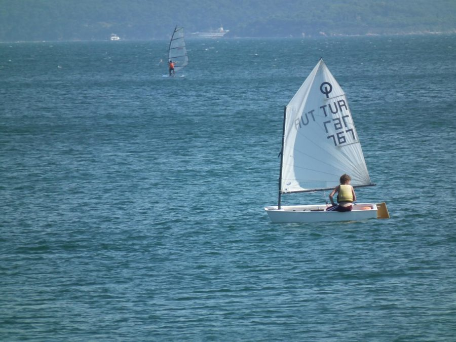 File photo of an optimist sailing dinghy from 2010.