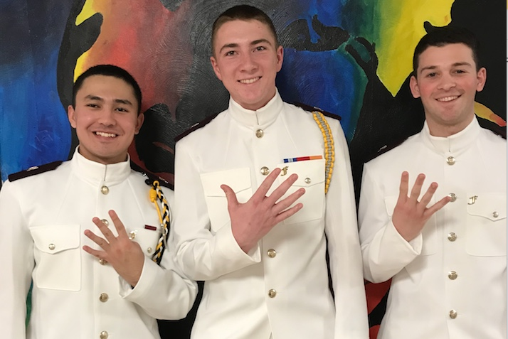 Henry+Driesen+%28right%29+with+fellow+NROTC+cadets+at+Virginia+Tech.