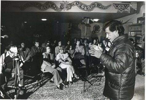 Cesar Chavez speaks at an event.